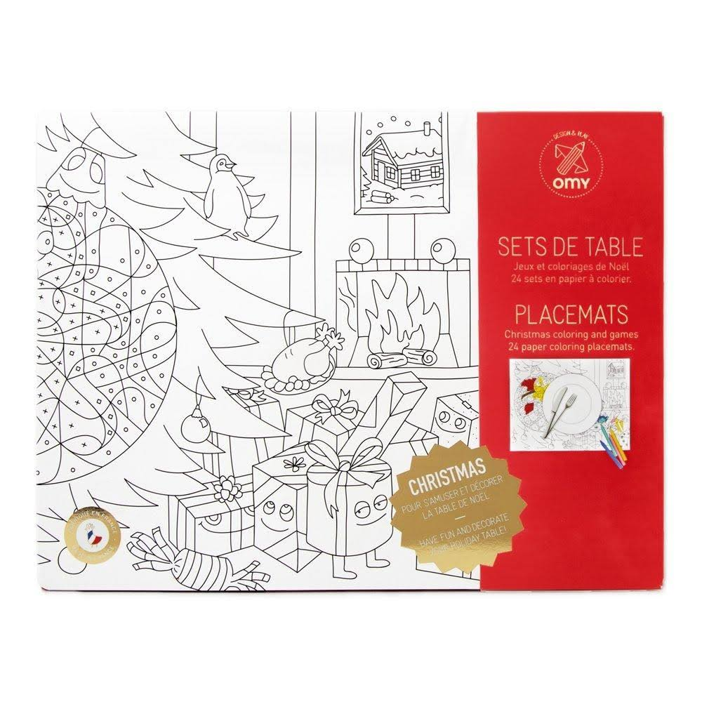 OMY Christmas Colouring Placemats