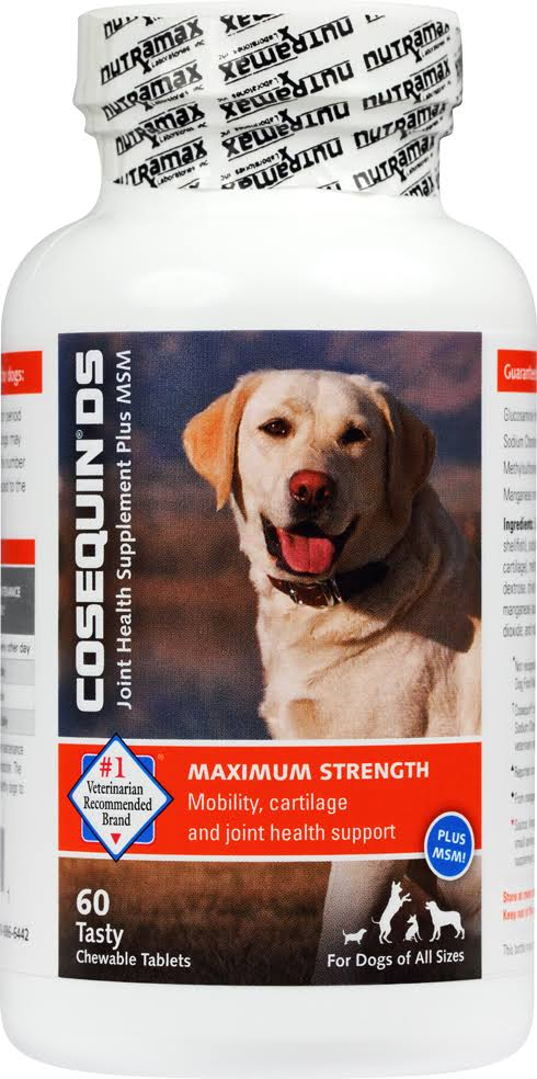Cosequin DS Maximum Strength Plus MSM Tasty Dog Chewable Tablets - 60 Pack