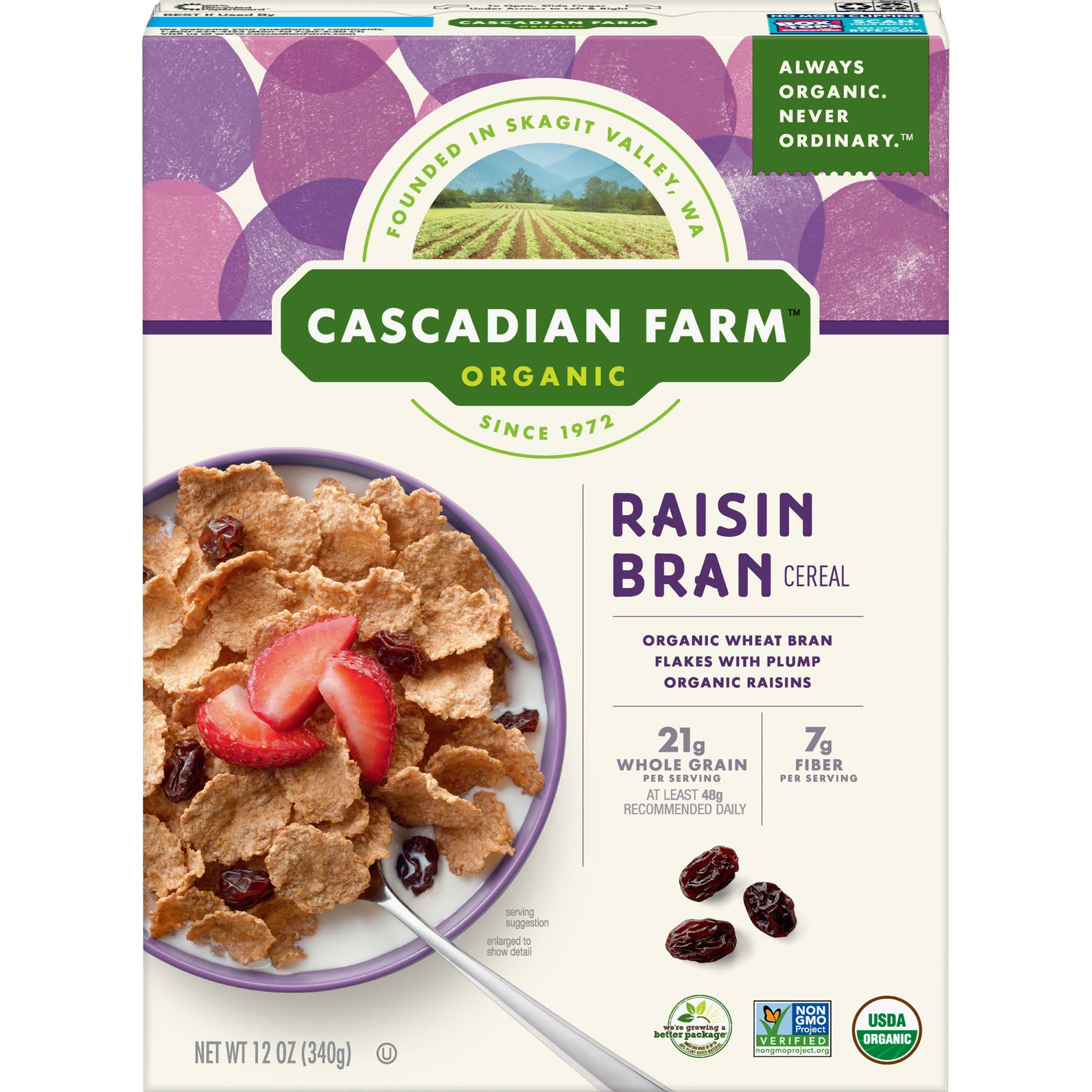 Cascadian Farm Organic Raisin Bran Cereal - 12oz