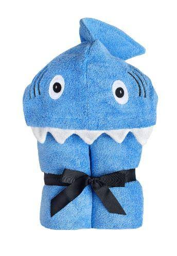 Yikes Twins Child Hooded Towel - Blue Shark