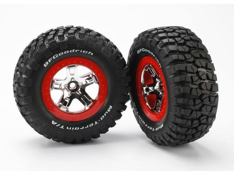 Traxxas Tires and Wheels ASMM - Red Beadlock, 2pc