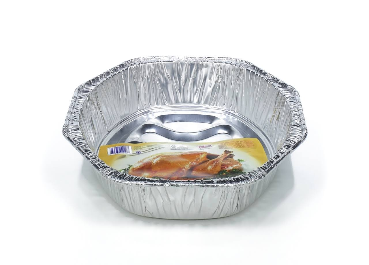 Hefty E-Z Foil Crown Oval Roaster Pan, Large - 1 count