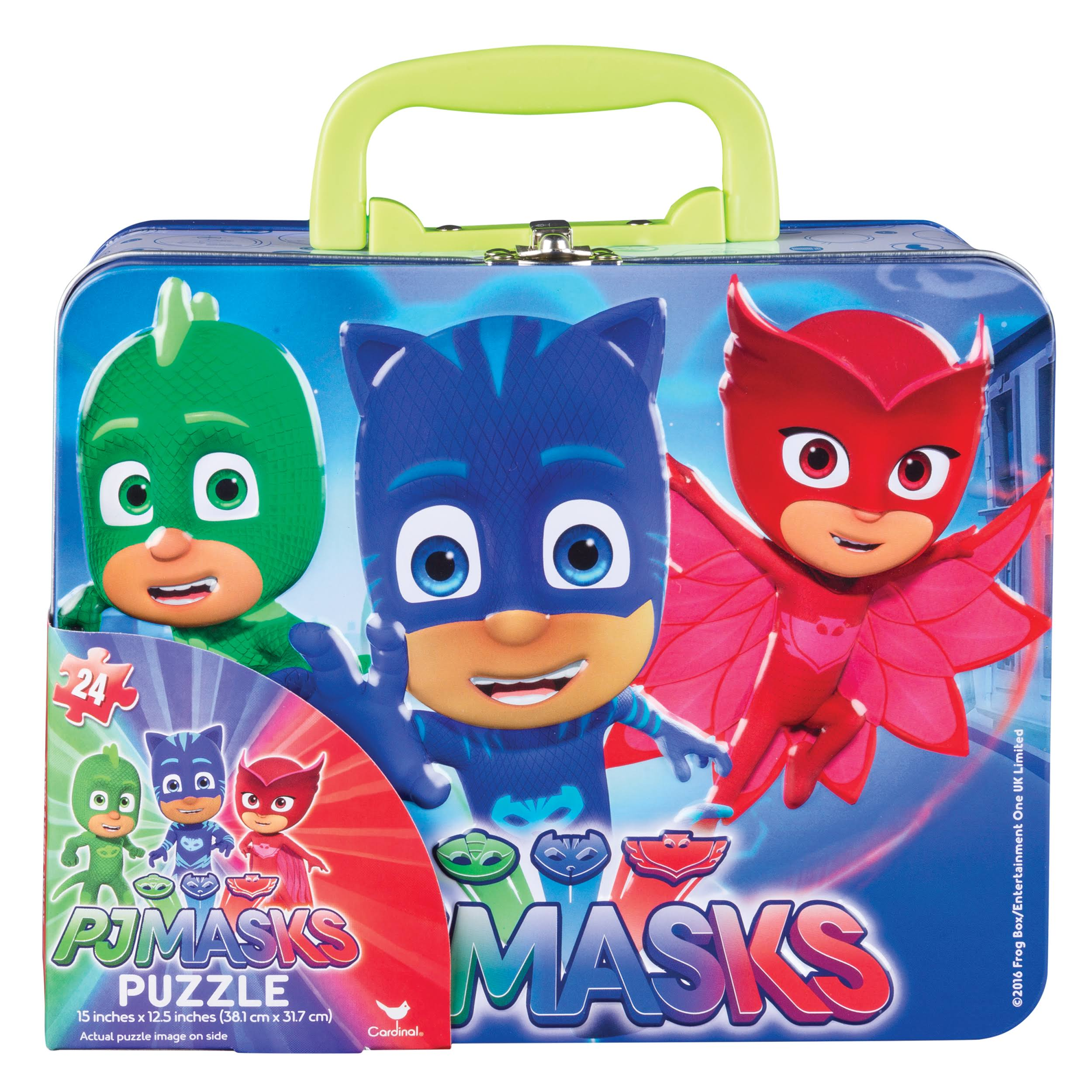 PJ Masks Lunch Box Tin with Handle Themed Jigsaw Puzzle - 24pcs