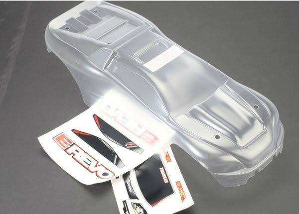 Traxxas 5611 E-Revo Body with Decal Sheet, Clear