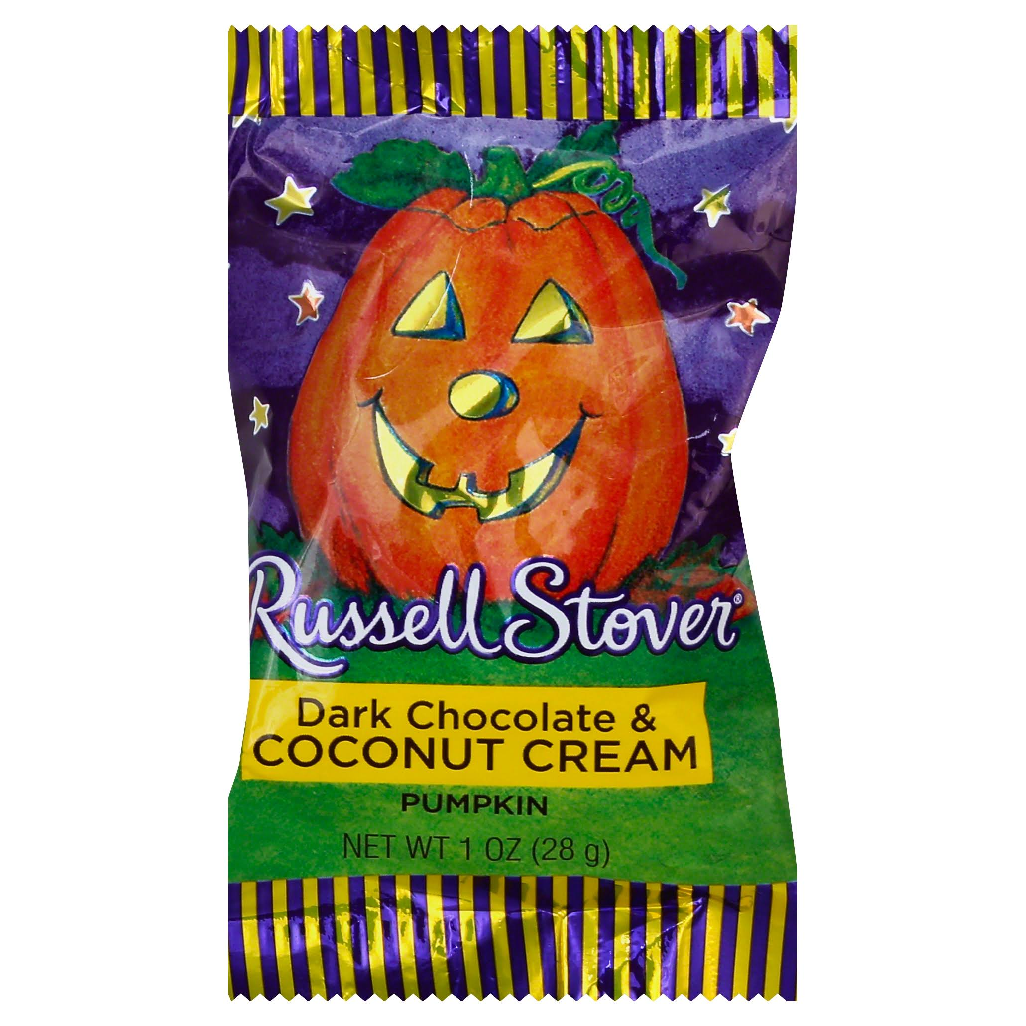 Russell Stover Dark Chocolate & Coconut Cream Pumpkin