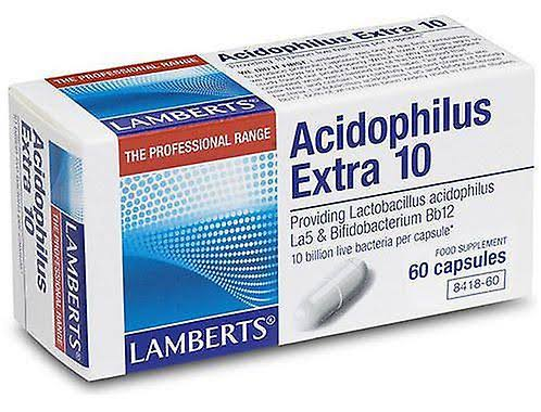 Lamberts Acidophilus Extra 10 Food Supplement - 60 Capsule