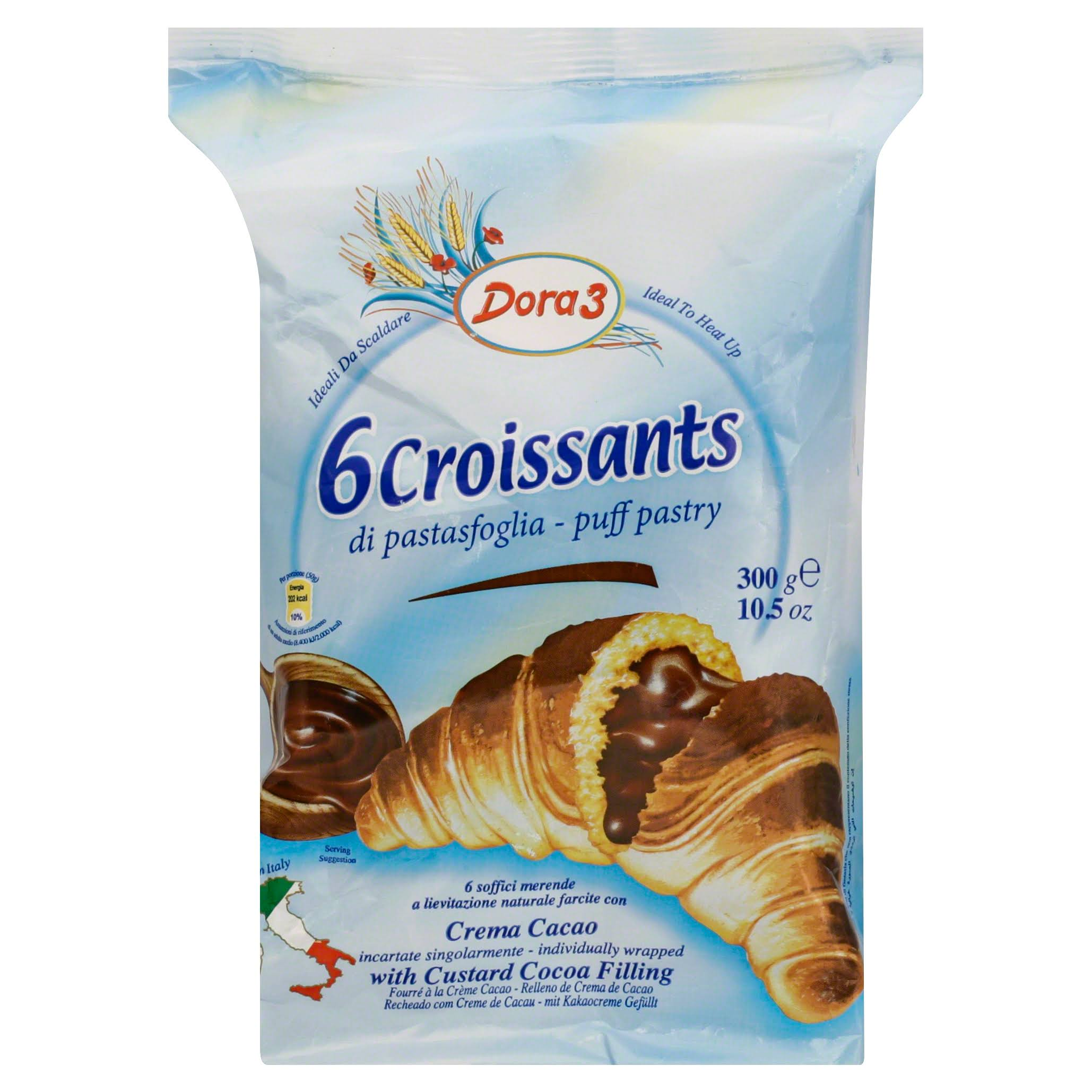 Dora3 Chocolate Cream Filled Croissant - 300g, 6pk