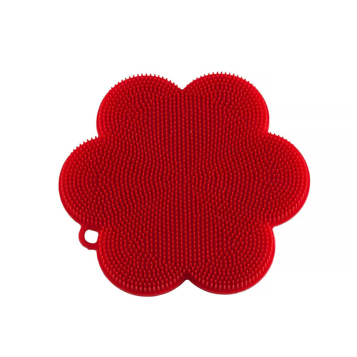 Kuhn Rikon Stay Clean Flower Silicone Scrubber, Red