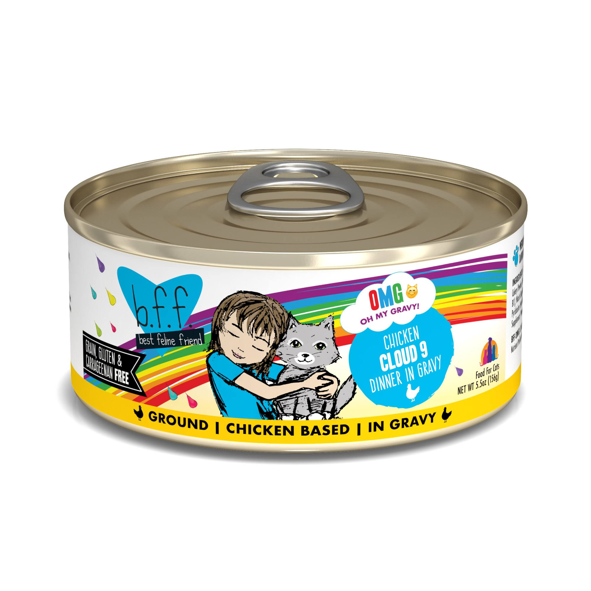 B.f.f. OMG Chicken Cloud 9 Dinner in Gravy OMG Food for Cats - 5.5 oz