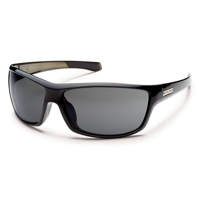 Suncloud Conductor Polarized Sunglasses - Black Backpaint Frame and Gray Lens