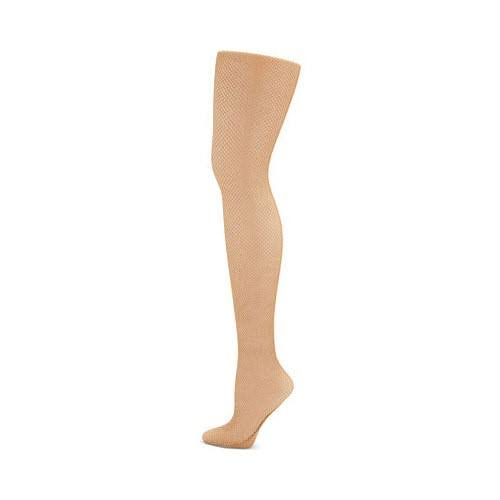 Capezio Women's Professional Fishnet Seamless Tight - Caramel, Medium, Tall