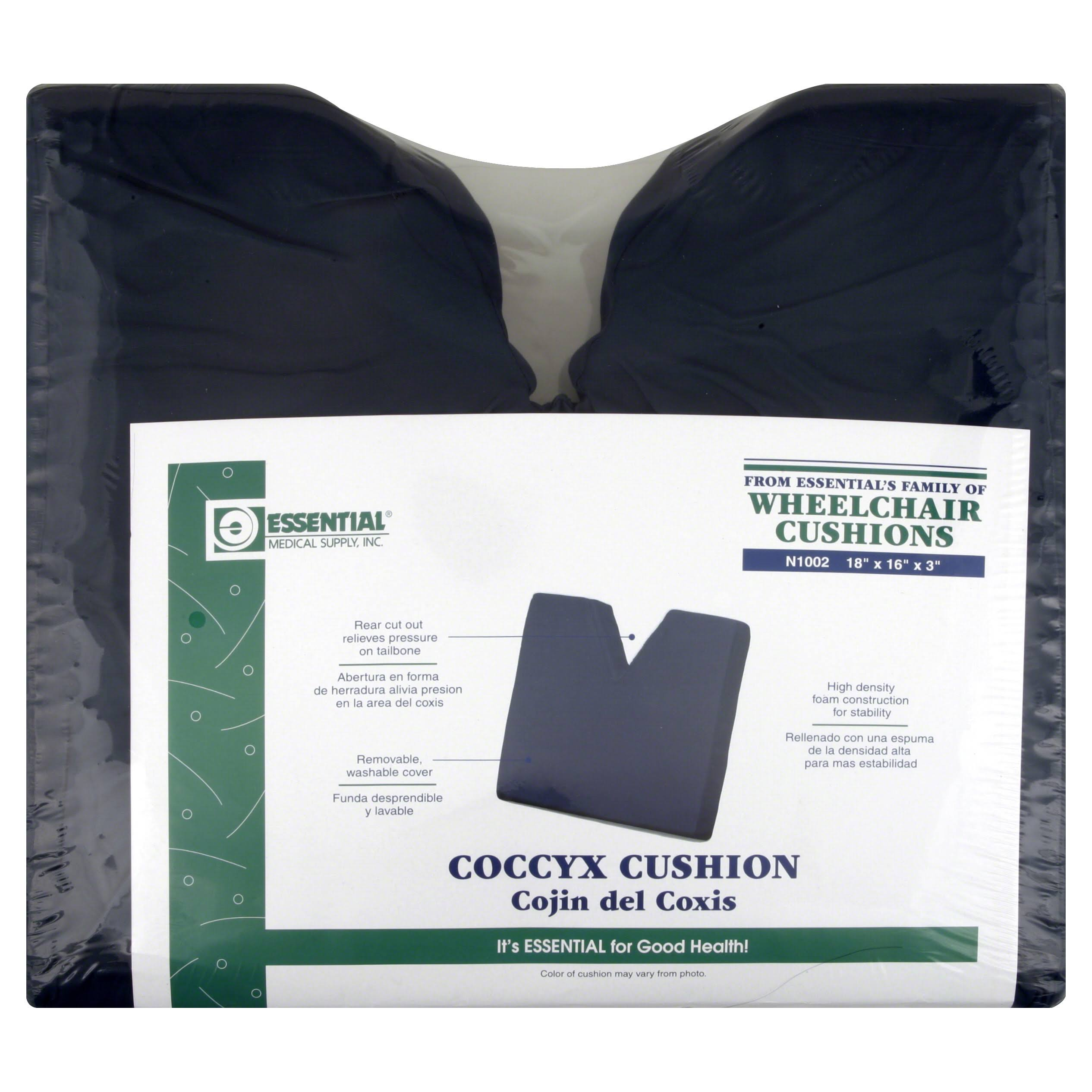 Essential Medical Coccyx Cushion - Navy, 46cm X 41cm X 7.6cm