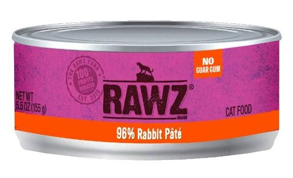 Rawz 96% Rabbit Cat Food Can | Tomlinson's Feed 5.5 oz