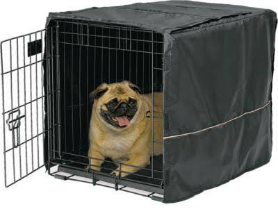 MidWest Quiet Time Crate Cover - Black, 24""
