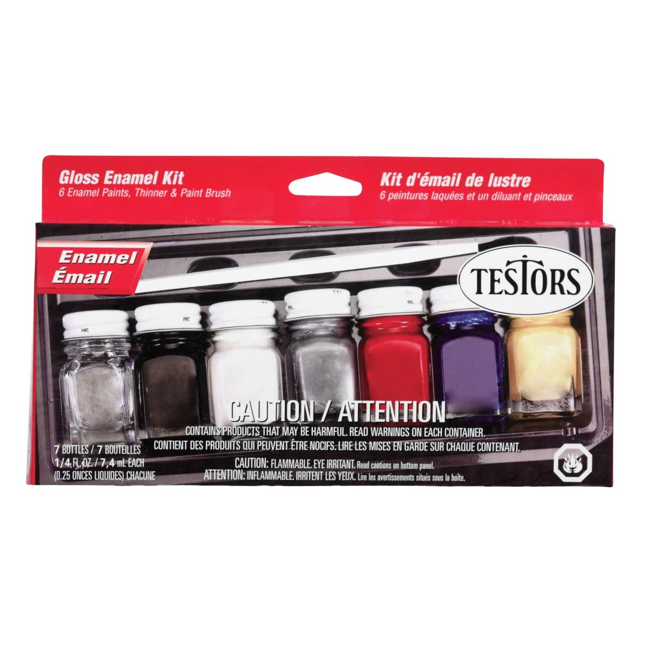 Testors Gloss Enamel Hobby Paint Kit