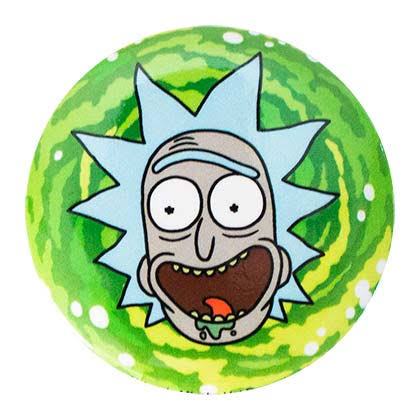 Rick and Morty Round Rick Button Green