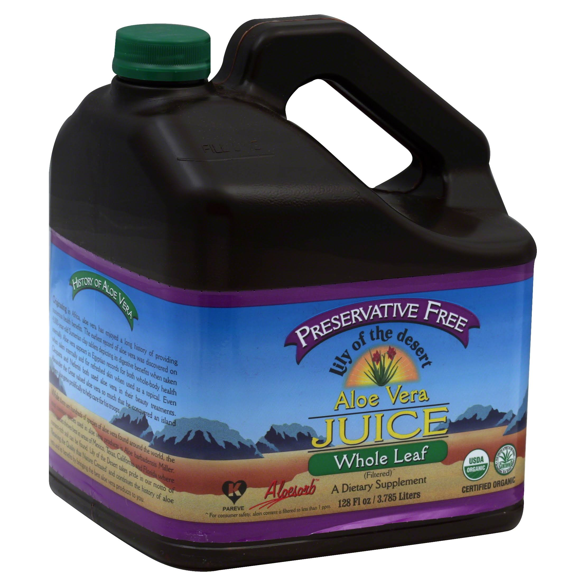 Lily Of The Desert Whole Leaf Aloe Vera Juice - 1gal