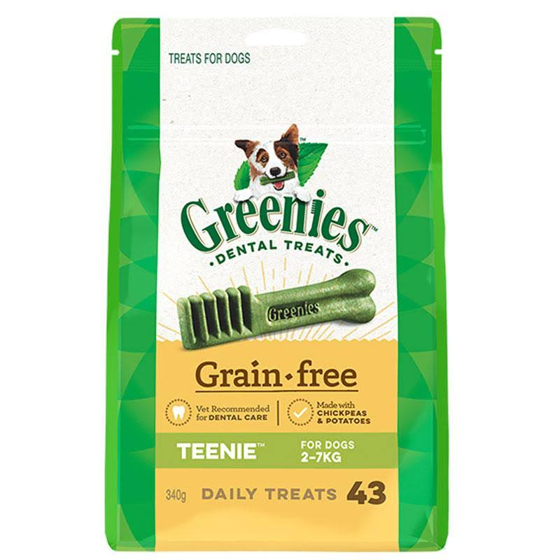 Greenies Dog Dental Chew Treats - Teenie, Grain Free, 340g