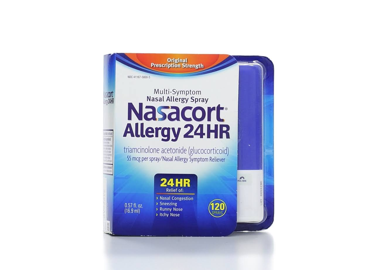 Nasacort Allergy 24 Hour Multi-Symptom Nasal Allergy Relief Spray - 120ct