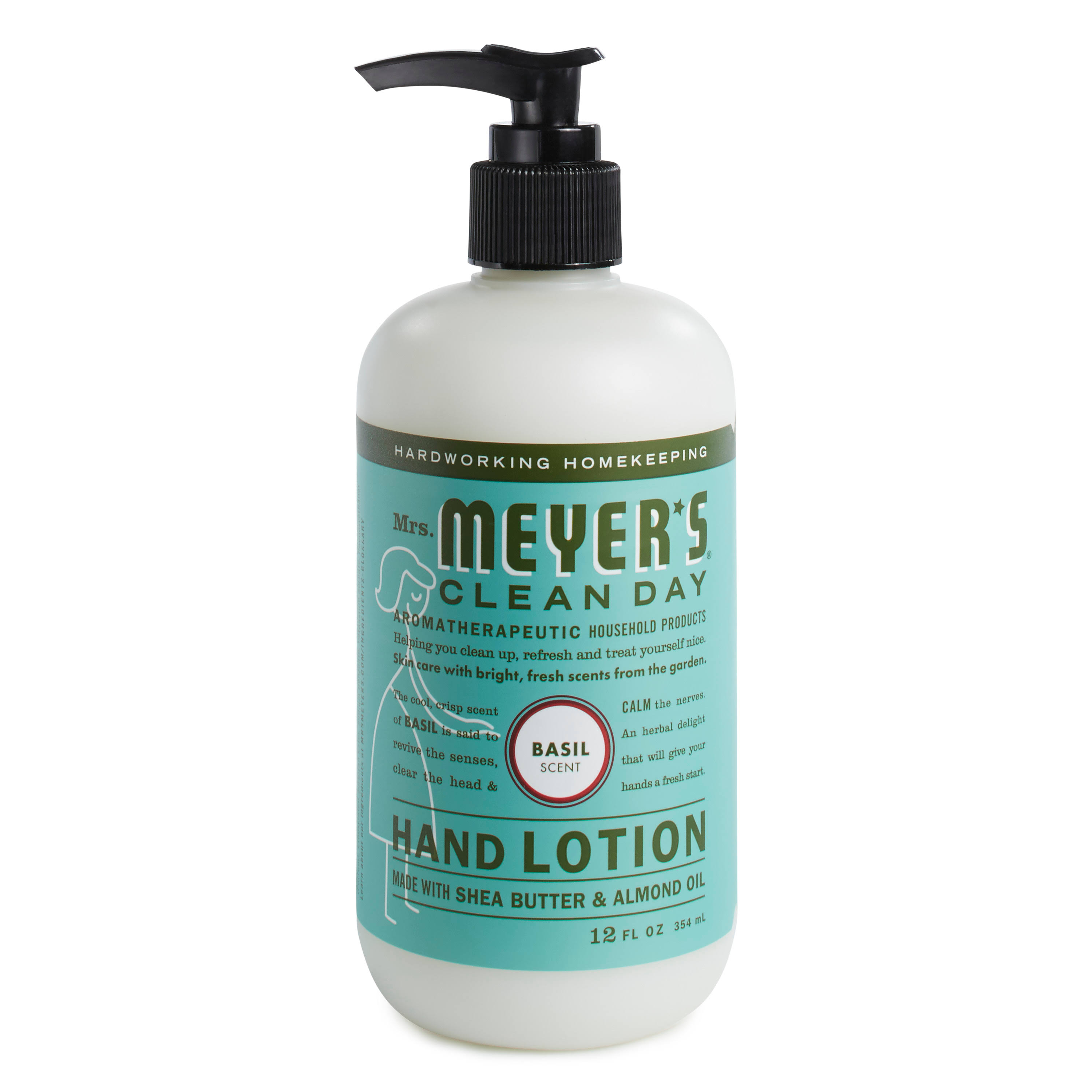 Mrs Meyers Clean Day Hand Lotion, Basil Scent - 12 fl oz