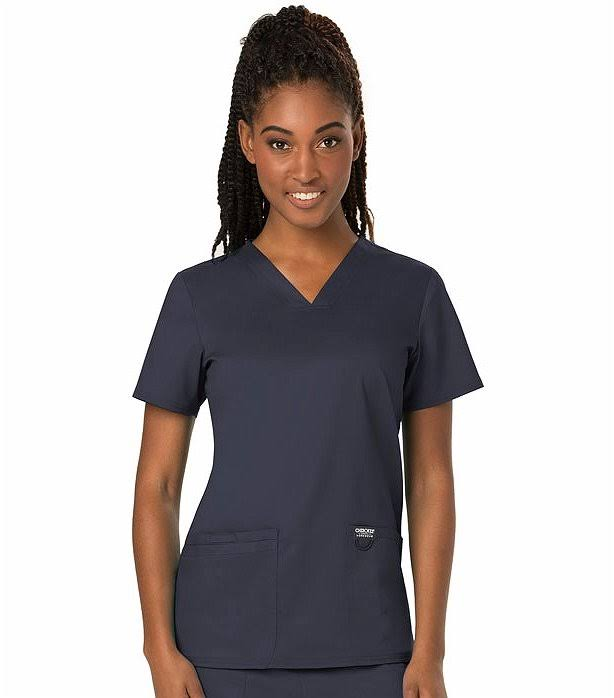 Cherokee Workwear Revolution V-Neck Scrub Top - S - Pewter