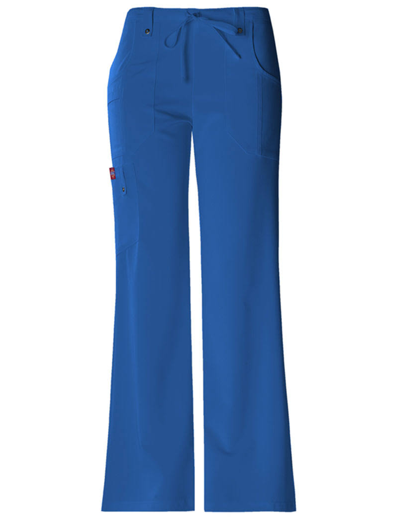 Dickies Women's Xtreme Stretch Fit Drawstring Flare Leg Pants - Royal, Large