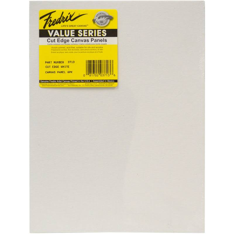 "Fredrix Tara Cut Edge Canvas Panel 6/Pkg-9""X12"""