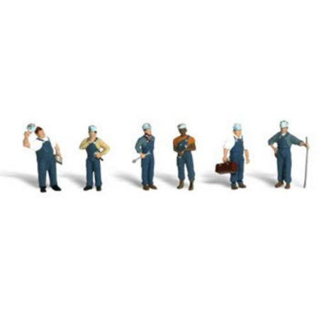 New Woodland HO Scale Train Mechanics Train Figures Toy Set