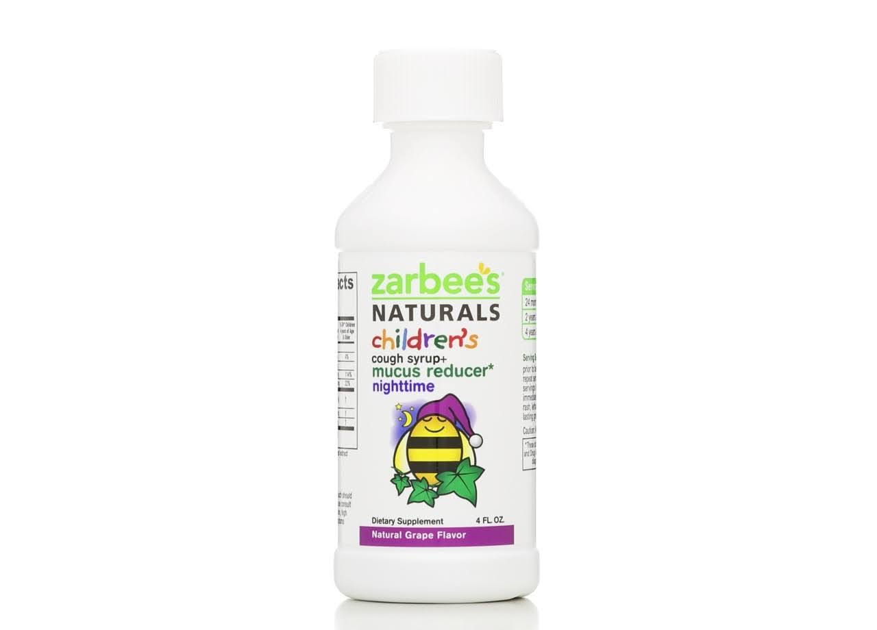 ZarBee's Naturals Children's Nighttime Cough Syrup + Mucus Reducer - Grape, 118ml