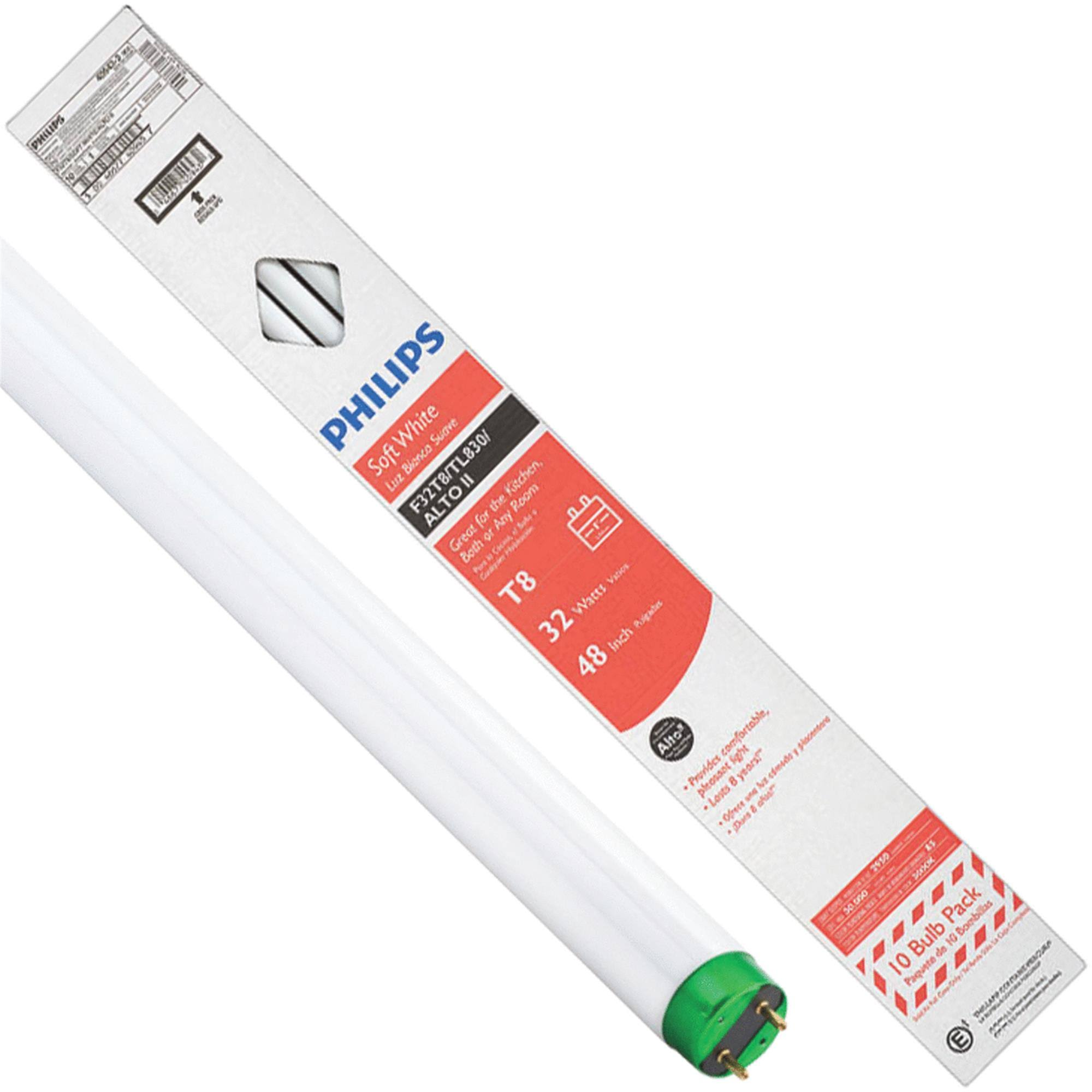 Philips T8 Medium Bi-Pin Fluorescent Tube Light Bulb 479683