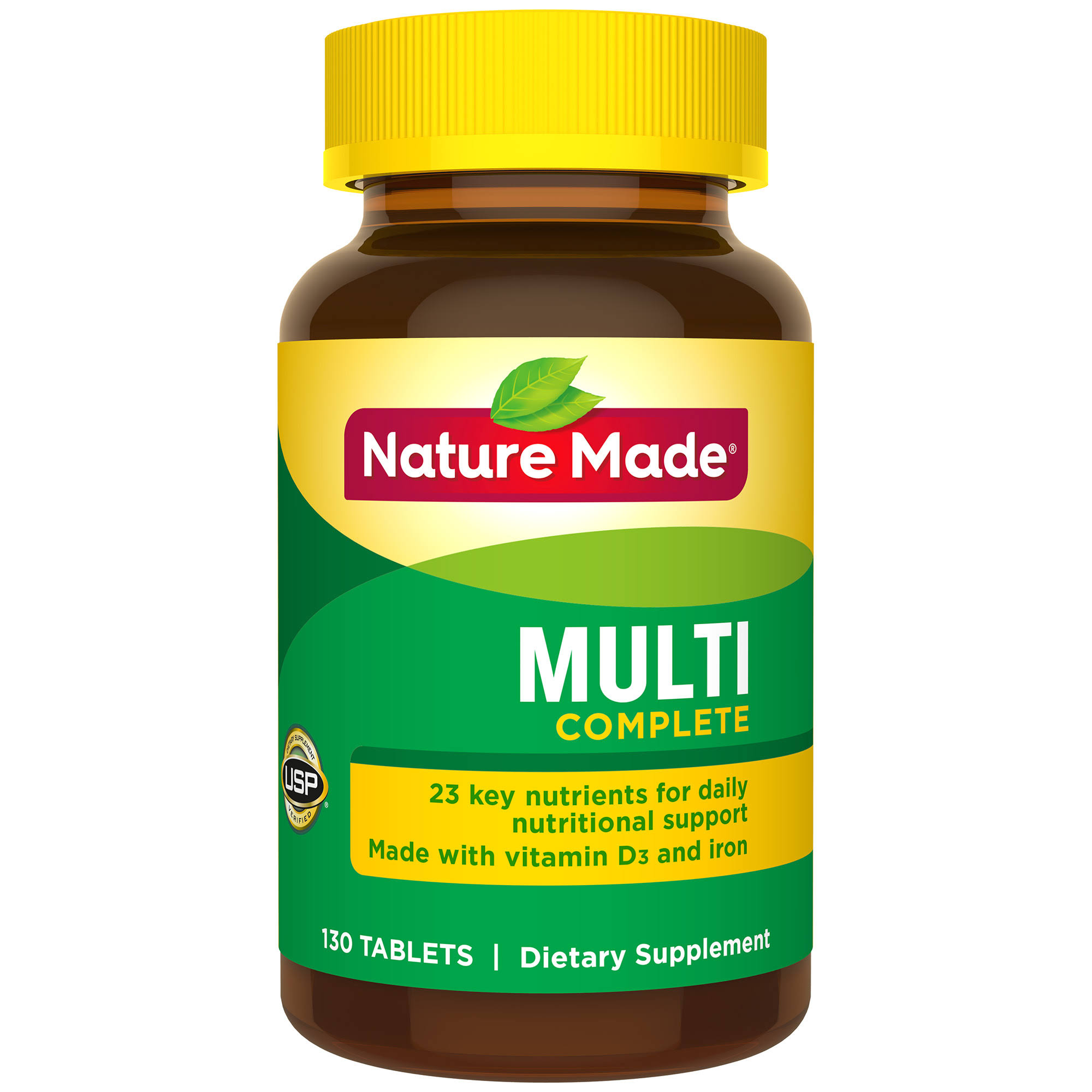 Nature Made Multi Complete Vitamins with Iron Supplement - 130ct