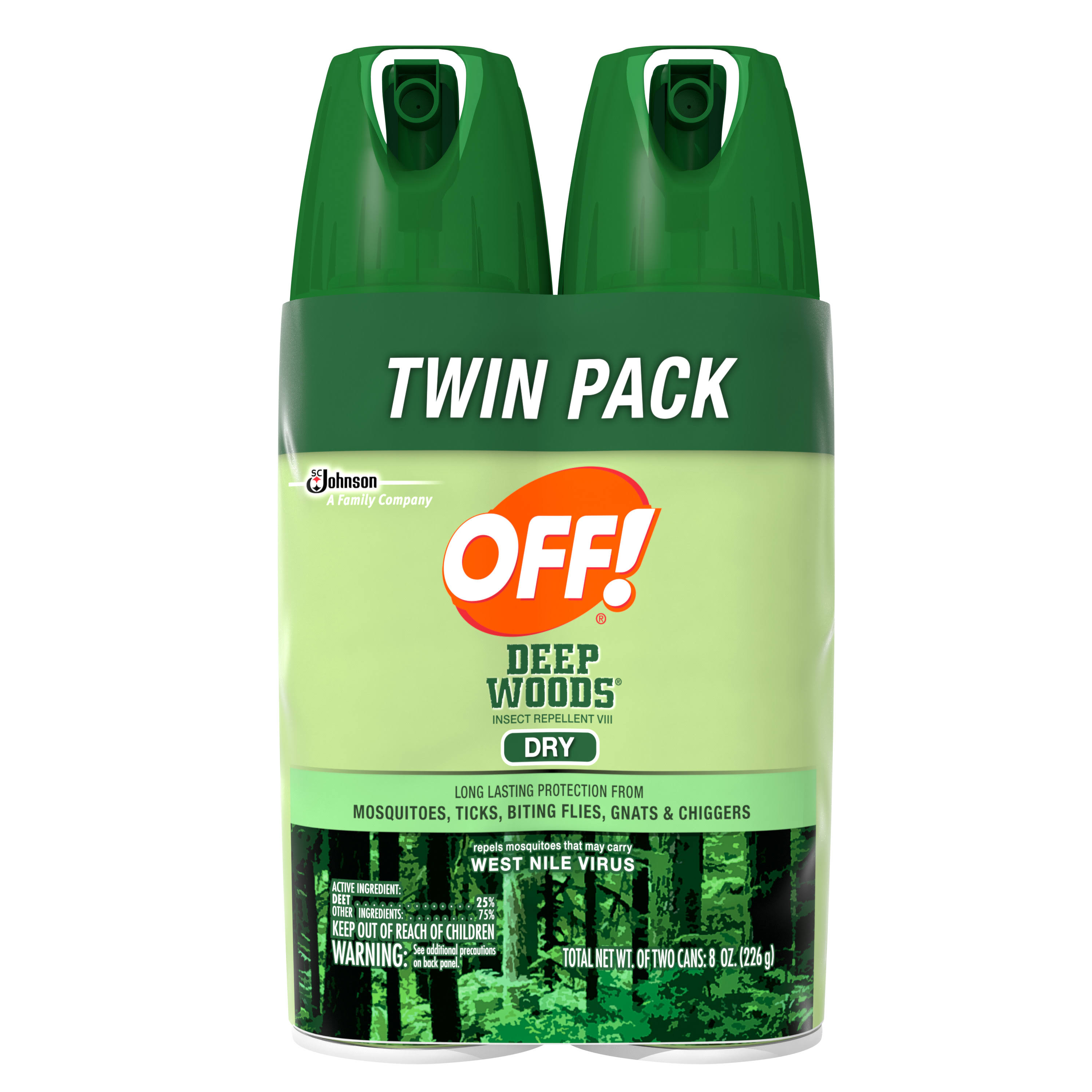 Off Deep Woods Insect Repellent - Dry, 4oz, 2ct