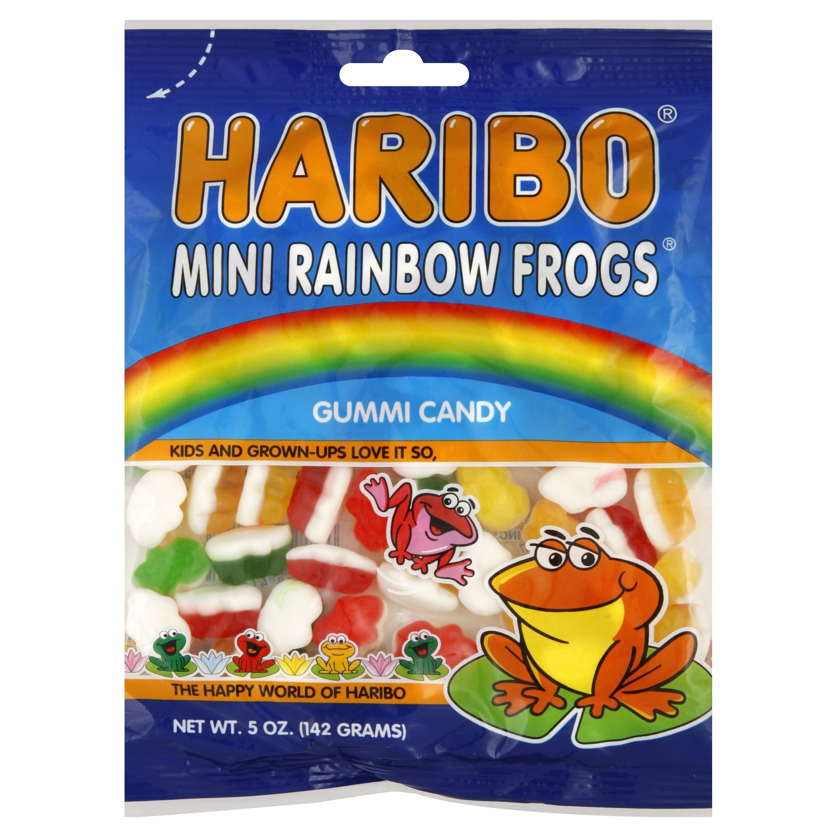 Haribo Mini Rainbow Frogs Gummi Candy - 5oz