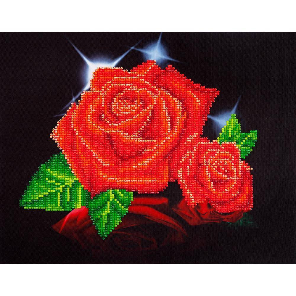 Diamond Dotz Diamond Embroidery Facet Art Kit - 17 x 13.75 in, Red Rose
