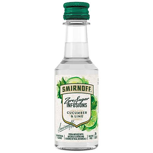 Smirnoff Zero Sugar Infusions Cucumber & Lime Vodka, 50 mL (60 Proof)