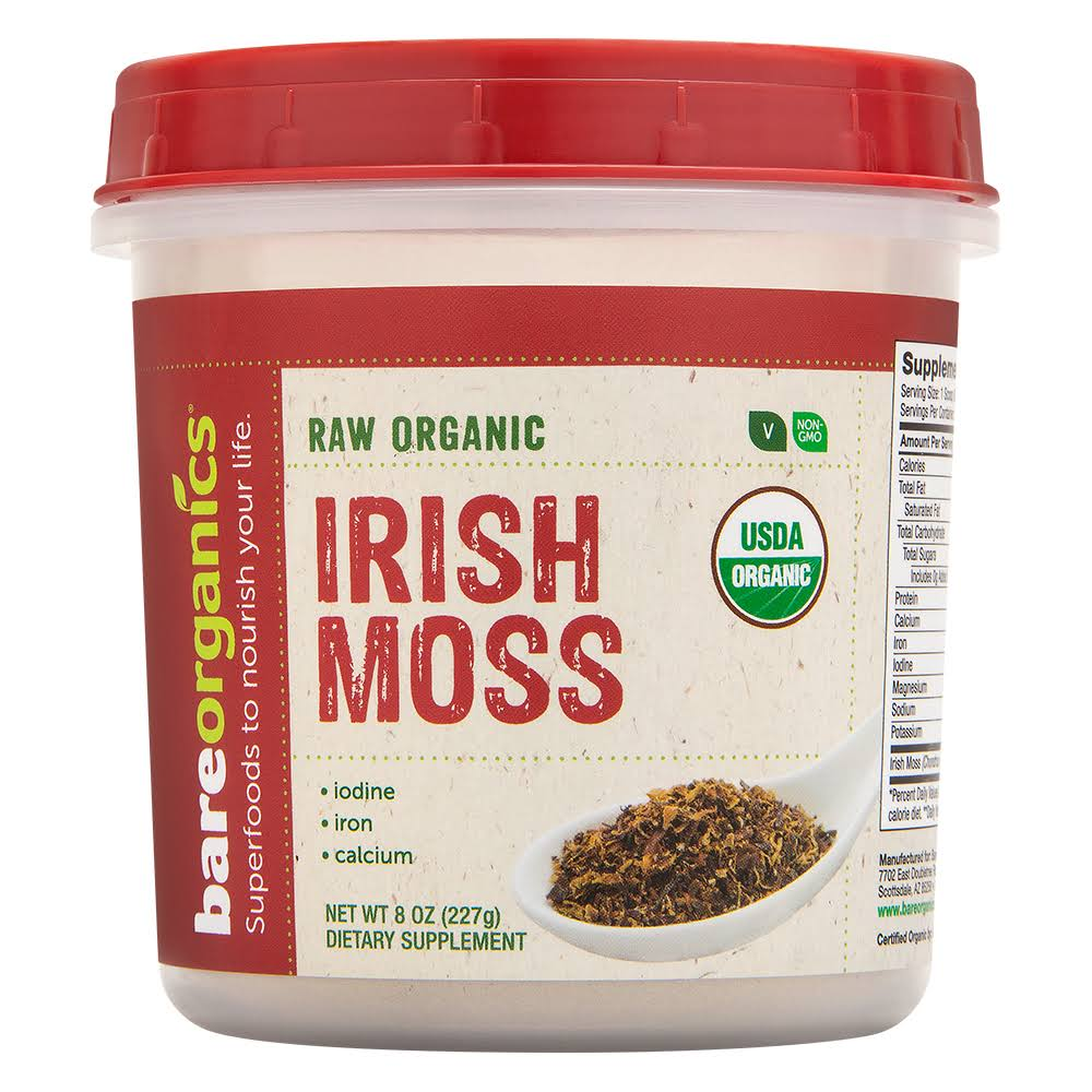 BareOrganics Organic Irish Moss Powder 8 oz