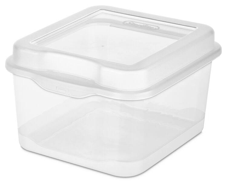 Sterilite 18038612 Small Clear Flip Top Storage Box - 12pk