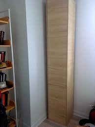 Tall Narrow Linen Cabinet With Doors by A Classy Tall Shoe Cabinet To Fit Small Entryways Ikea Hackers