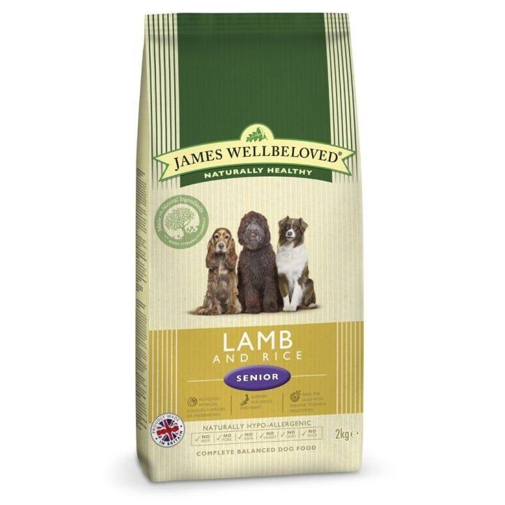 James Wellbeloved Senior Light Dry Dog Food - Lamb & Rice Kibble, 2kg