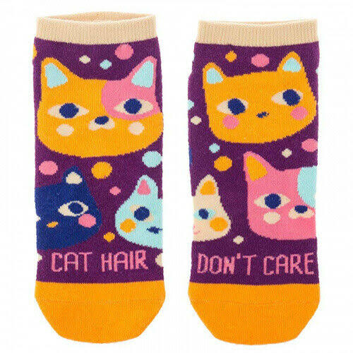 Karma Wms Ankle Socks Cat
