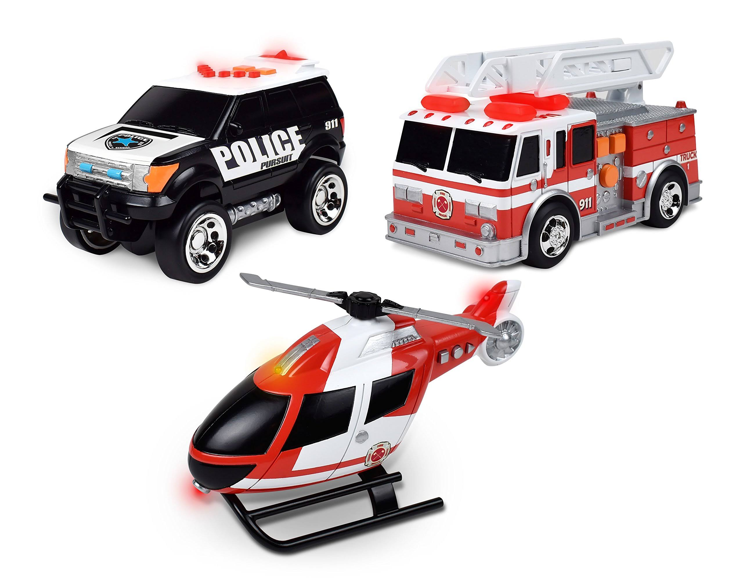 Maxx Action Mini Rescue Vehicles Toy Pack - 3pcs