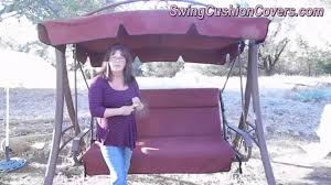 Replace Patio Sling Chair Fabric by Costco Patio Swing Canopy And Cushion Replacement Youtube