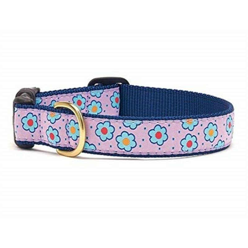 Flower Field Dog Collar by Up Country - Medium - Wide 1""