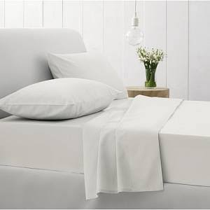 Sheridan 500 Thread Count Cotton Sateen Fitted Sheet - King, Snow