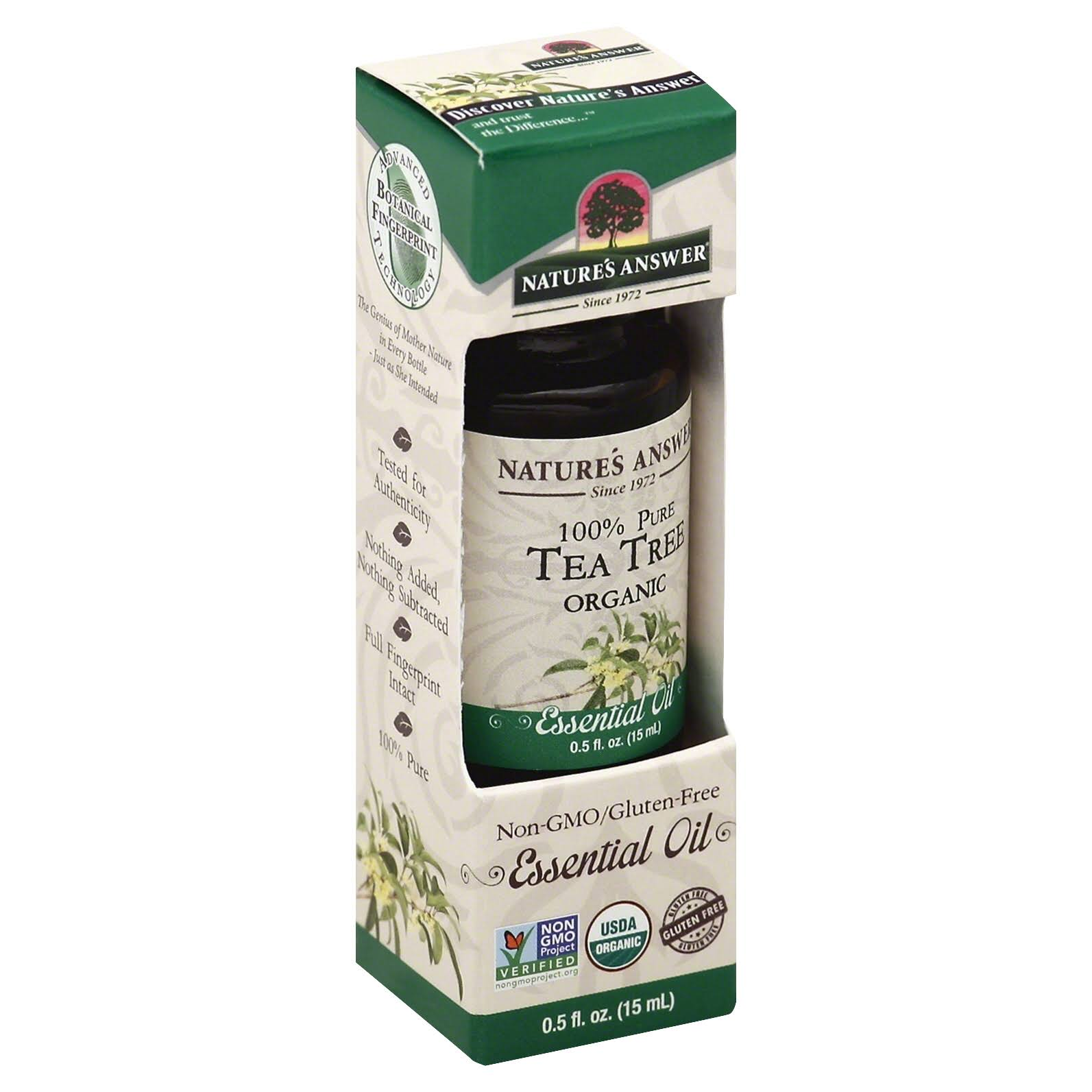 Nature's Answer Organic Essential Oil 100 Pure Tea Tree - 15ml