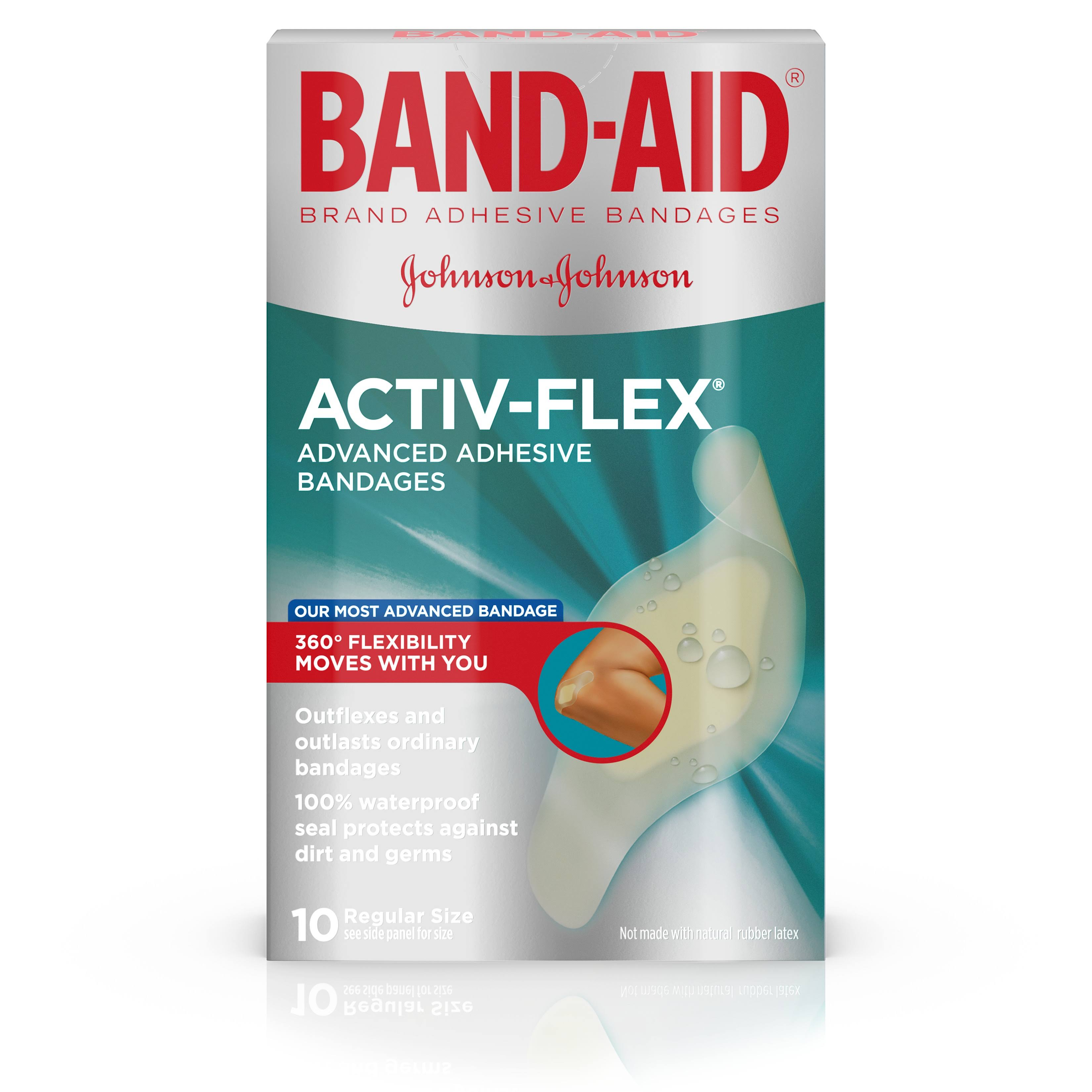 Band-Aid Brand Activ-Flex Adhesive Bandages, 10 Count