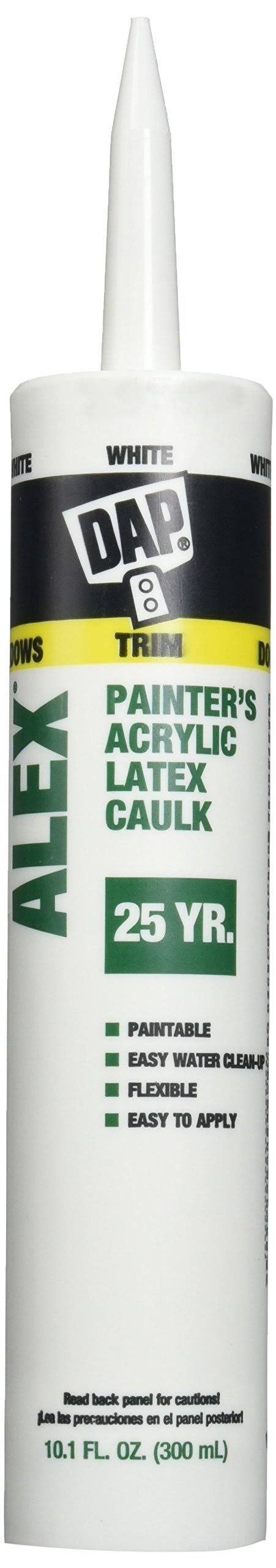 Dap Alex White Painter's Acrylic Latex Caulk and Silicone Sealant