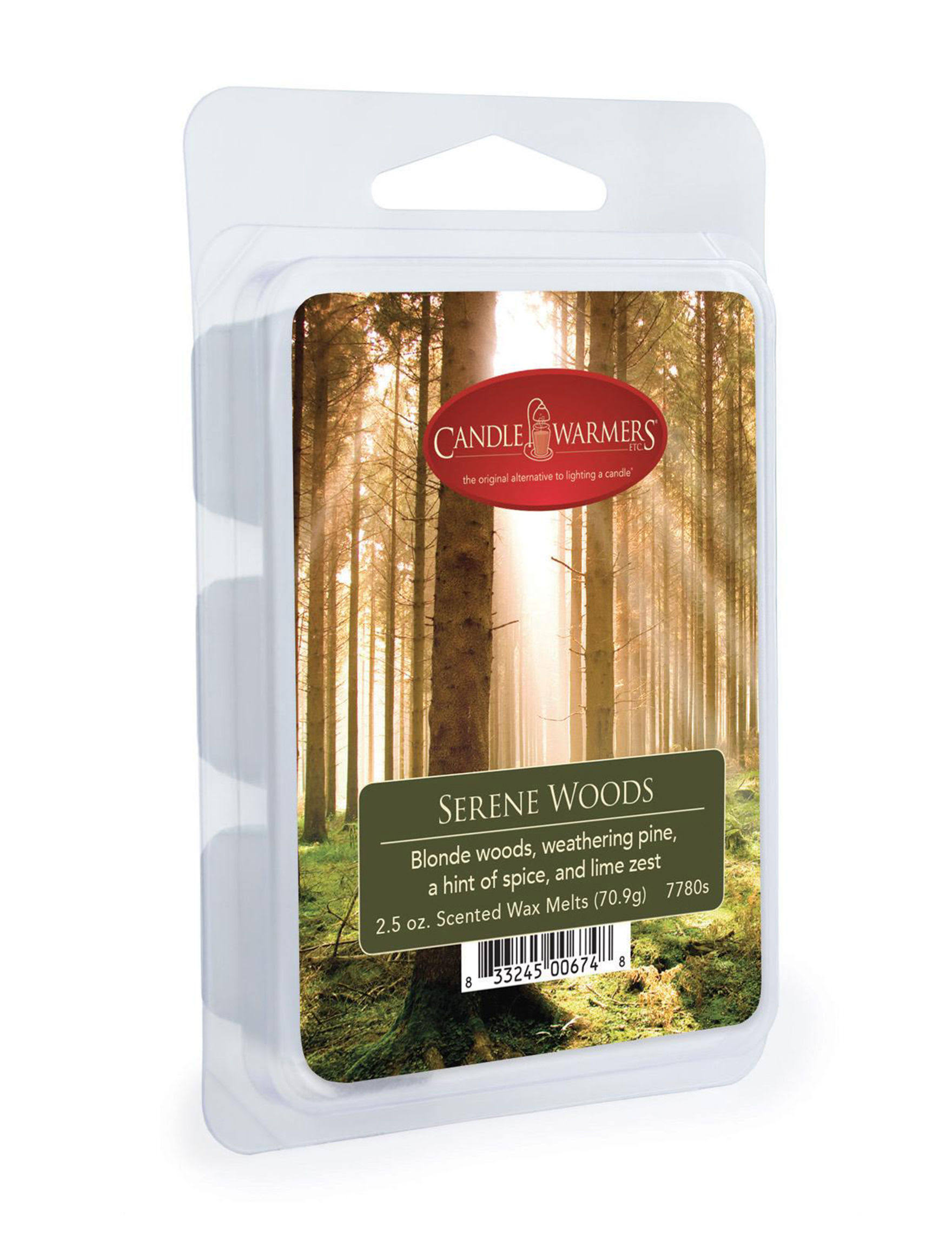 Candle Warmers Scented Wax Melts - Serene Woods, 70.9g