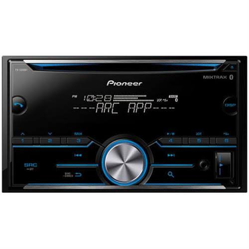 Pioneer FH S500BT Double Din Car Audio CD Player - iPhone Android Bluetooth Pandora Compatible