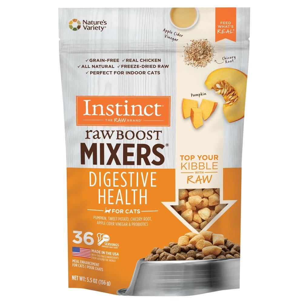 Instinct by Nature's Variety Freeze-Dried Raw Boost Mixers Grain-Free Digestive Health Recipe Cat Food Topper, 5.5-oz Bag